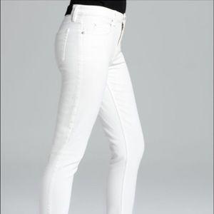 Theory - white denim skinny jeans